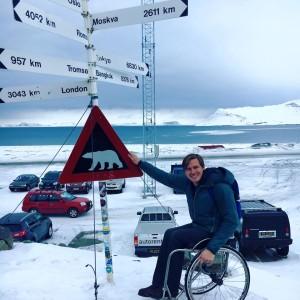 Aron Anderson på Svalbard