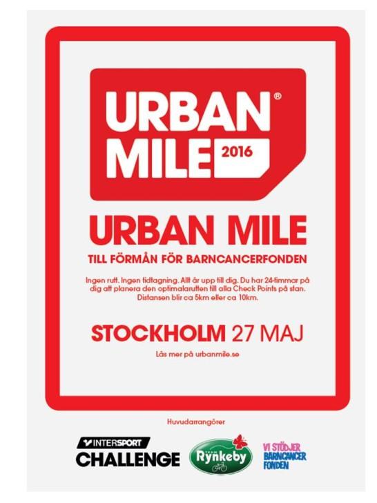stadsloppet Urban Mile Stockholm löpning