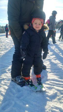 Mitt makalösa barn på skidor