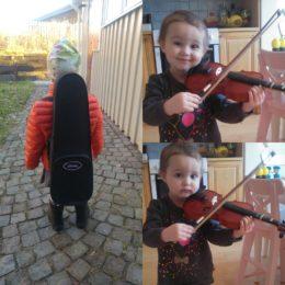 Nu är Rut nästan som vilken treåring som helst. Och hon har börjat spela fiol!