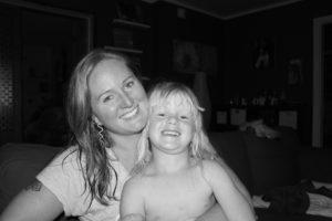Hon och jag, före cancern.